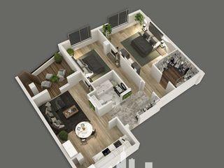 Apartament 2 camere 83m2, spre rasarit, balcon 7m2