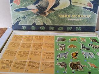 Детский конструктор СССР игры-лото-шашки-домино.