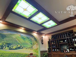 Витражные декоративные потолки с ЛЕД освещением / Tavane decorative. Vitralii cu iluminare LED