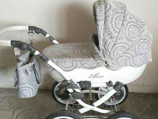 Шикарная колясочка Anmar Ellina Alu 2 В 1 весь материал шитьё!