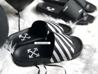 Шлепки, тапочки Off-White Black/White Unisex