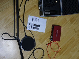 AKG P220 Focusrite audio cartela