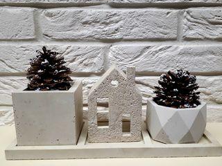 Ghiveci decorativ p/u suculente și cactuși pitici.Вазоны,кашпо из бетона для сукулентов и кактусов.
