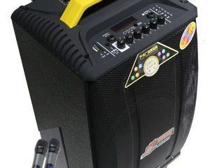 Cea mai puternica- boxa cu acumulator ,2 microfoane,bluetooth,flas , 3600 lei