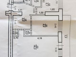 Apartament 2  camere (cartier locativ, et. 1)