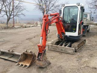 Prestam servicii cu Mini-Excavator Kubota