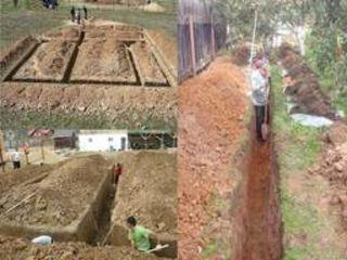 Копаем канализации траншеи сливные ямы септики водопровод фундаменты каналы погреба бассейны s