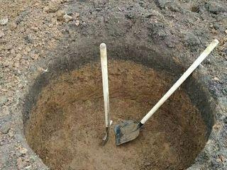 Sapam canalizare, transee pentru canalizare, septic WC afara   Sapam manual si mecanizat
