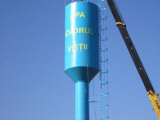 Turn de apa. Fintini arteziene.Башни водонапорные.Бурение скважин.