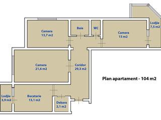 Vind sau schimb apartament cu 3 odai pe 1+1 cu 1 odai sau 1 ap. cu 2 odai +bani .