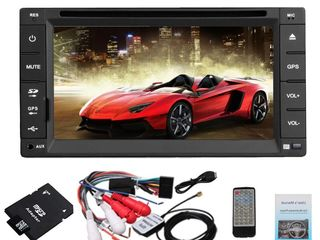 Автомагнитола pioneer gps + tv 7 inch 2din gps+ usb+cd + dvd + tv+bt+ipod+camera. кредит!