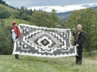 Карпатский плед (лижнык) 100 % из овечьей шерсти.