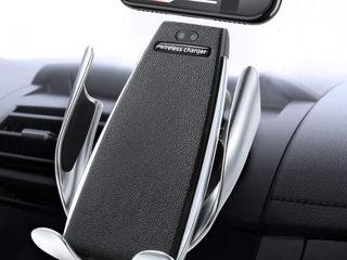 Incarcator auto fara cablu беспроводная зарядка автомобильный держатель телефона