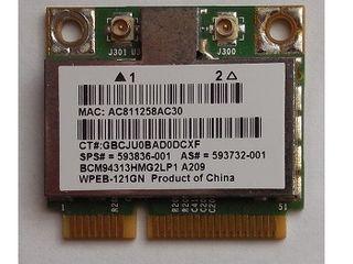 Wi-Fi p/u notebook Broadcom BCM94313HMG2L (WPEB-121Gn) si Atheros QCNFA335 (04X6022)