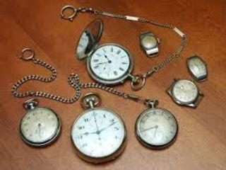 Куплю: карманные часы, серебряные изделия.  дорого!!!