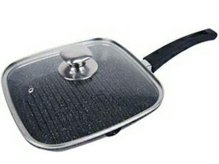 Навая сковорода гриль(Gril) с крышкой