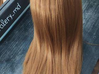 Cap practica 50cm par şaten-roşcat natural 100 % calitate superioara.