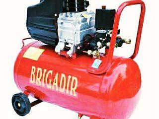 Compresor profesional Brigadir 50litri cu garantie 1 an+livrare!