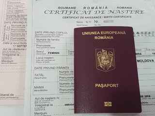 Transcrieri acte de stare civilă - certificat de nastere, de casatorie roman