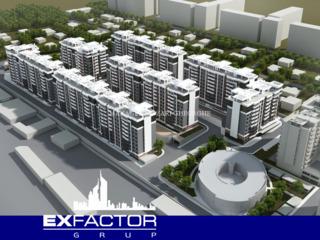 Exfactor Grup - Buiucani, 2 camere 66 m2 et. 3 de la 550 € m2 prețul 36.300 € cu prima rată 10.900 €