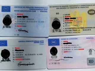 Acte  permise TIR , CPC,CPI ADR, Manager Transport, , permis de conducere  etc.