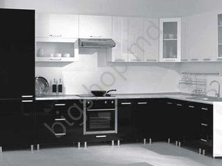 Bucatarie Ambianta Perla White/Black (3.5x2.1 m). Super preț!!