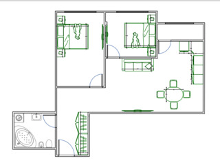 2 спальни и ливинг с кухней 26м2, рассрочка без банка.
