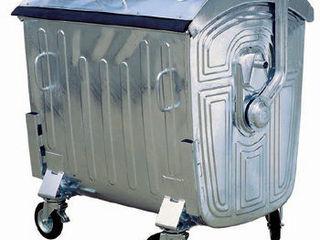 Металлические оцинкованные евроконтейнеры на 4 колесах . Containere deseuri