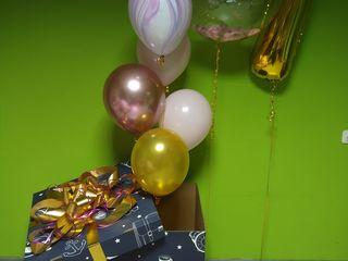 Cutie surpriza cu baloane cu heliu коробка сюрприз с гелиевыми шариками