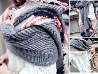 Новые теплые, объемные шарфы