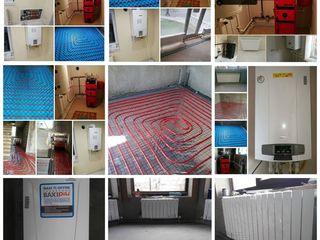 Montez cazane gaz,lemnecarbune,podele calde,radiatoare система отопления,котельная.Santehnic.