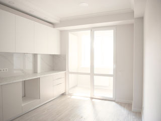 Sprîncenoaia, apartament cu euroreparatie, 3 odai (2 odai + living). Telecentru