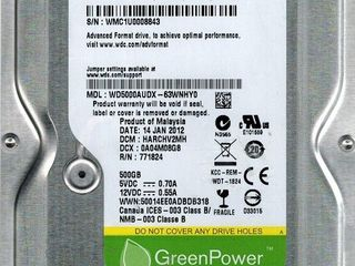 Hard disk-uri Hitachi, Seagate, Toshiba, WD. Garanție 2 ani. Livrare rapidă în orice colț al țării.