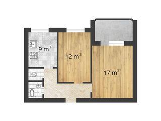 Vind apartament cu 2 camere or.Straseni