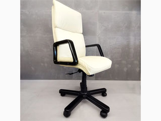 Офисное кресло из натуральной кожи Texas Vanilla
