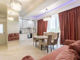Bloc Nou! str. Lev Tolstoi, Centru, 3 camere + living. Design Individual! Mobilat Complet!!!