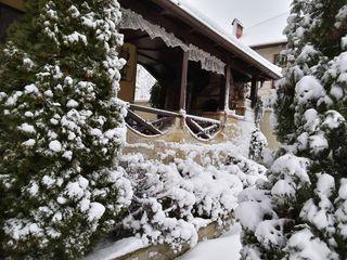 Небольшой уютный дом с террасой и садом