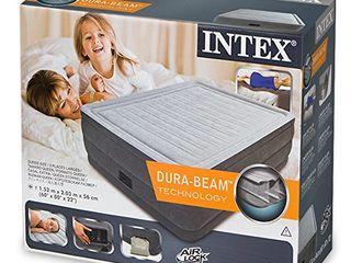 Надувная  кровать INTEX 64418 (152x203x56 СМ.) со встроенным электронасосом