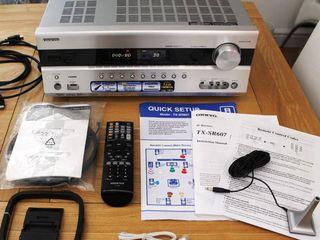 Onkyo TX-SR607 AV Receiver HDMI Dolby TrueHD, DTS-HD Master Audio, DVD- Audio SACD 7.2 140 Watt*7