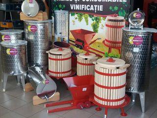 Butoi inox | Cada pentru struguri  | Кадки для вина  |Teascuri | Zdrobitoare