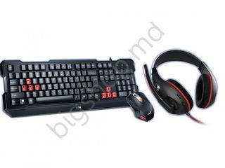 Set genius kmh-200 gaming keyboard+gaming mouse+gaming headset. tastatură+cadou mouse și căști!!
