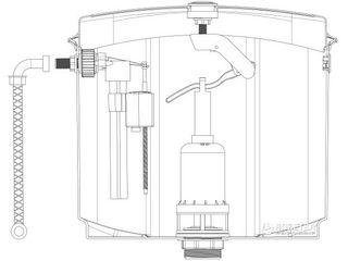 Механизмы для  бачка ,шланги ,сифоны ,краны,бачок подвесной в Бельцах.