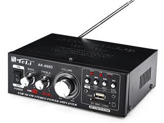 Amplificator sunet - Sistem acustic. Priză și auto. FM+USB+SD/MMC. Nou. 490 lei