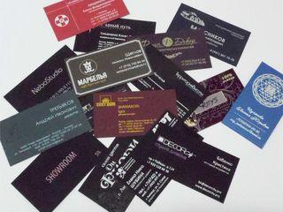 Шелкография на визитных карточках