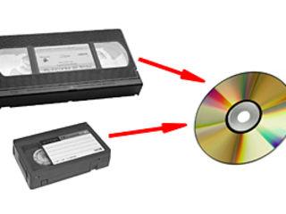 с видео кассеты на dvd диск