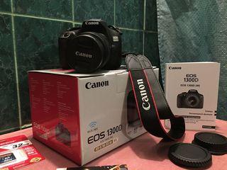 Canon EOS 1300D . Новый в упаковке, Тип камеры зеркальная, Объектив Есть! ISO 12800, Video Full HD!