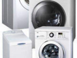 Reparația mașinilor de spălat automate la domiciliu. Chemarea gratuită. Piese de schimb