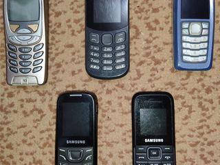 Sony ericsson w-715, samsung gt-e 1225 dual sim, 105е, nokia 6310i, 3100, 1017dual sim.