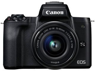 Aparat foto mirrorless Canon EOS M50 + 15-45mm IS STM Black (2680C060)