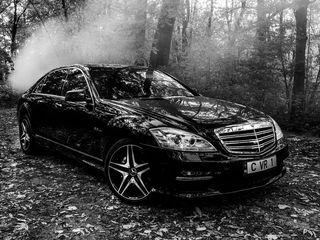 Mercedes-Benz S class de lux albe/negre